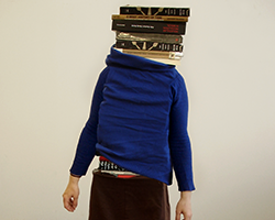 Self-portrait as a stack of books